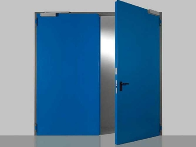 double leaf fire retardant door