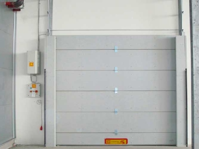fire retardant sectional overhead door