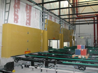 fire retardant sectional overhead door EI180