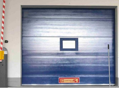 fire retardant sectional rigid industrial doors