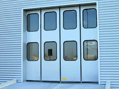 rigid industrial doors folding doors