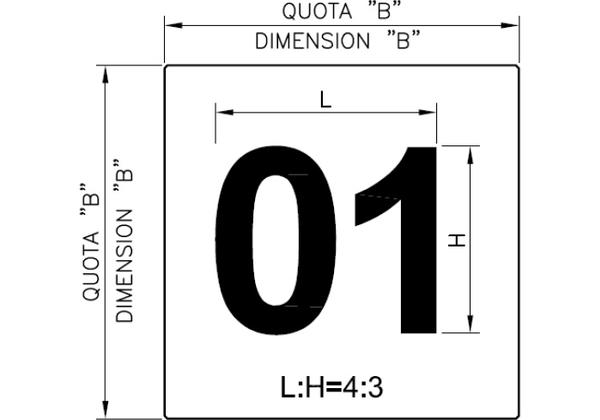 NUMBERING OF THE LOADING BAYS
