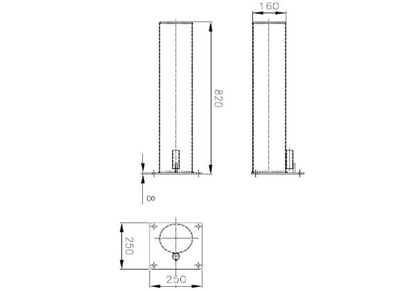 PROTECTION BOLLARDS FOR SECTIONAL DOORS