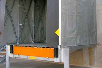 steel outside recessed loading bays